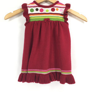 Gymboree 12-18 mos Red Sweater Dress Christmas